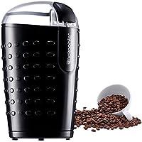 Molinillo de Café Eléctrico, Rackaphile - 70g Gran Capacidad, Rápido, Eléctrico Bajo Consumo 150W para Café, Carne, Especias, Granos, color Negro