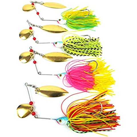 4pcs/lot 19.8g 4colors Spinnerbait attira Spirit Spinner
