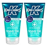 King of Shaves Antibacterial Men's Shaving Gel 150ml TWIN-PACK
