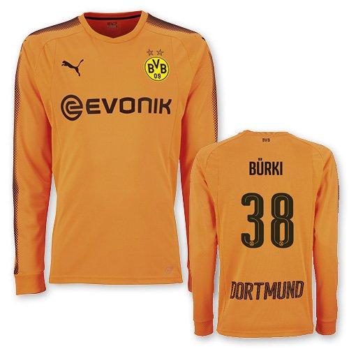 BVB Torwarttrikot orange mit Flock 2017/18, Größe:152, Spielername:Bürki
