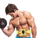 ZGXZD Bauchmuskelstimulator, Bauchmuskeltrainingsgerät EMS Muskelstimulator elektronisches Muskeltrainingsgerät Bauchstraffung Gürtel männlich/weiblich,Yellow