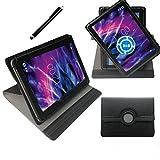 360° 10 Zoll SCHWARZ Tablet Tasche Schutz Hülle Stand Etui für Captiva Pad 10 3G + Plus