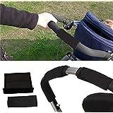 HENGSONG Accessoires de poussettes Protège mains pour Poussettes Landau 2 Pcs Noir