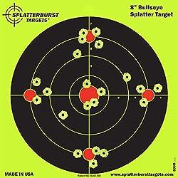 Lot de 25-20,3cm Bullseye Cible splatterburst-Voir instantanément Votre Shots Burst Vives Jaune fluorescentes à Impact.