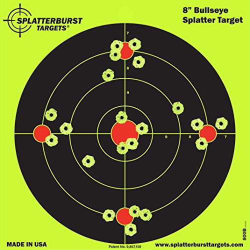 terburst Ziele - 20,3 cm - Reaktive Bullseye Ziele - Schüsse platzen hell fluoreszierend gelb beim Aufprall - Gewehr - Pistole - AirSoft - BB Gun - Luftgewehr ()