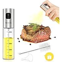 Maxcio Dispensador de Pulverizador de Aceite, Botella de Spray de Aceite para Ensalada/Hornear Pan/BBQ/Cocinar con Pincel y Embudo