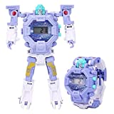 Millya Kids 2 In 1 Multifunction Transform Robot Watch Electronic Wrist Watch Transformers Toys