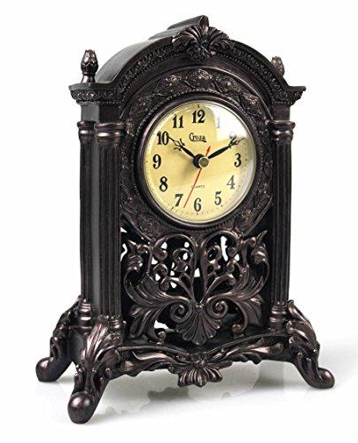 Mascarello orologio classico europeo retrò in resina camino orologio da tavolo interno decorativo in legno simil-scultura