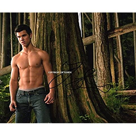 LIMITED EDITION TAYLOR LAUTNER SIGNED PHOTO-TWILIGHT-CERT STAMPA AUTOGRAFATA FIRMA FIRMATA SIGNIERT