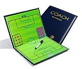 PhantomSky Cartella Tattica per Allenatore di Calcio, Lavagna Calcio Tattica con magneti, penna e gomma (Dimensioni: 44cm x 32cm)