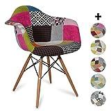 La sedia DAW in stilepatchwork è uno dei modelli più popolari del design di avanguardia del XX secolo, dei ben noti designer Eames. Eleganza, comodità e stile si uniscono per dare un tocco speciale alla sua sala da pranzo o scrivania. Realiz...