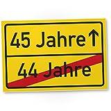DankeDir! 45 Jahre (44 Jahre Vorbei) - Kunststoff Schild, Geschenk 45. Geburtstag, Geschenkidee Geburtstagsgeschenk Fünfundvierzigsten, Geburtstagsdeko/Partydeko / Party Zubehör/Geburtstagskarte