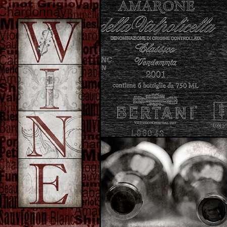 Preisvergleich Produktbild Feelingathome.it-LEINWANDDRUCK-Vintage-Amarone-cm82x82-poster-bild-auf-leinwand