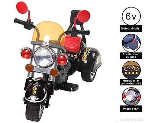 CRISTOM ® Moto électrique pour enfant /6 VOLTS + connection MP3