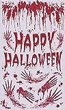 Bloody Door Cover Happy Halloween Wall Decoration