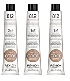 3er Set Revlon Nutri Color Creme Tube 100 ml 812-hellblond perlmutt-beige