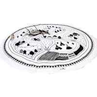 kuuboo Kids Play Mat Bebé Saco de dormir de Kids–Manta para gatear alfombra bebé antideslizante tapete de juego alfombra de juegos portátil redondo manta de Picnic, diámetro 95cm