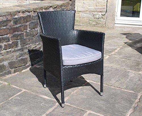 black rattan outdoor 8 seat round garden furniture dining