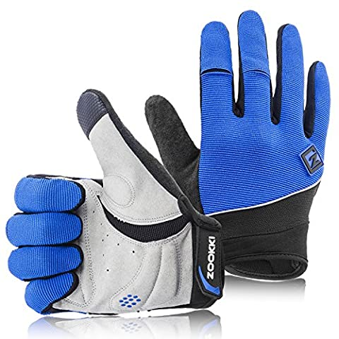 Zookki Cycling Gloves Mountain Bike Gloves Road Racing Bicycle Gloves Light Silicone Gel Pad Biking Gloves Full Finger Bicycling Gloves Riding Gloves Cold Weather Warm Gloves Men/Women Work