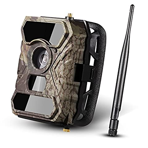 Wireless Wildlife Camera [2017 New] Trail Camera Ancheer 3G GPRS/GSM/MMS/SMS//SMTP Game Hunting Camera 12MP 1080P 56pcs IR LEDs and Infrared Night Vision with 110°PIR Angle with 0.4s Trigger Time and Time Lapse Waterproof Surveillance