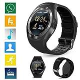 Y1 Bluetooth Smartwatch, Smart watch, Orologio Intelligente, Fotocamera 2.0 MP , SIM , pedometro, monit. del sonno, per SMARTPHONE ALCATEL, XIAOMI, MEDIACOM, MEIZU, ZTE, ALCATEL, COLORE NERO