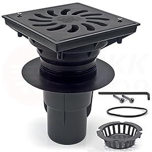 Garaje Carport plástico ABS transportable hasta 1500 kg DN 110 – 250 desagües para el patio, el sótano, el balcón, la…