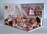 lemogo DIY Puppen, aus Holz,. Mit kit- Prinzessin, Schlafzimmer, Möbel