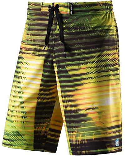 Firefly Janek Swimshorts Herren Badehose Badeshort Hose Bermuda Boardshort, Größe:L;Farbe:Yellow Light (Jungs-stretch-boardshort)
