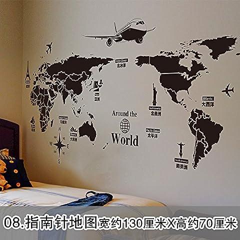 La cabecera de la cama sofá Dormitorio Dormitorio paredes decoradas con venda autoadhesiva de papel para pared personalidad continental candelabros wallpaper carteles Cialis,Levitra,eflornitina HCL brújula Mapa(1*3pcs)