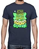 latostadora - Camiseta Zombie Lemon Ice Cream para Hombre Denim 3XL