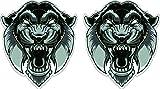 Abstrakter Tiger Kopf schwarz-weiss Art Aufkleber Sticker + Gratis Schlüsselringanhänger aus...