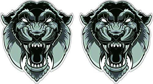 Abstrakter Tiger Kopf schwarz-weiss Art Aufkleber Sticker + Gratis Schlüsselringanhänger aus Kokosnuss-Schale + Auto Motorrad Helm Laptop Windows Hund Tiere Katze Wolf Tiger Löwe