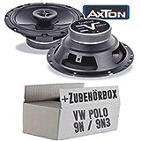 VW Polo 9N 9N3 Front - Lautsprecher Boxen Axton AE652F | 16cm 2-Wege 160mm Koax Auto Einbauzubehör - Einbauset