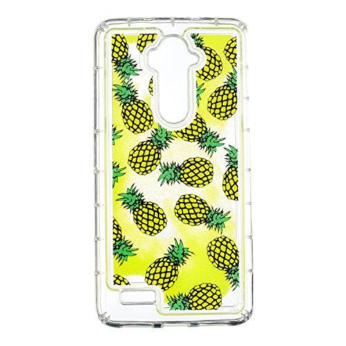 Cozy Hut ZTE Z986 Glitzer Hülle, Treibsand 3D Shiny Transparent Back Cover Glitzer Handyhülle Skin Schale Beschützer Haut Case für ZTE Z986 - Ananas