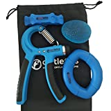 aptletics® 4-in-1 Medi Handtrainer Wunder - Innovatives Fingertrainer Set inkl. Handbuch für Mausarm | Anti Stress | Reha | Therapie | Karpaltunnel | Arthrose | Tennisarm | Feinmotorik | Rheuma