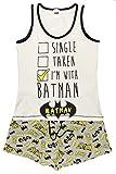 Character Clothing Damen Mädchen NEUHEIT kurzes Höschen Shorts Pyjama Ariel wonder woman BatGirl Minnie Elch taty Teddy Eeyore 8-22 - Batman POW schwarz/grau, UK 8-10