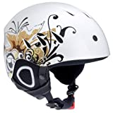 Ultrasport Damen Skihelm Race Edition, weiss mit Design, M, 331300000023