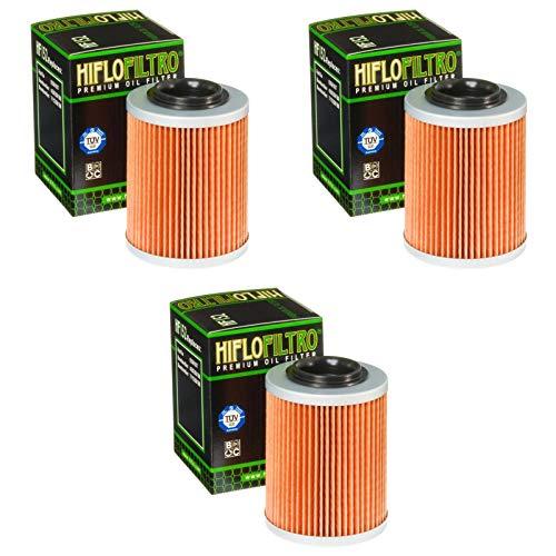 3x Filtri olio CAN-AM Outlander 500 EFI DPS 13-14 Hiflo HF152