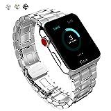 FatcatBand Armband für Apple Watch Series 3/2/1, (38 mm or 42 mm) Edelstahl Wrist Band Uhrband Uhrenarmband Erstatzband mit Butterfly Metallschließe für Apple Uhr/Watch Series 3,Series 2,Series 1