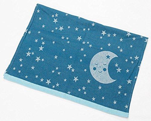 David Fussenegger - IDA leichte Babydecke - Mond - Atlantik - Material: 85% Baumwolle, 8% Viskose,Material: 85% Baumwolle, 8% Viskose - 70/90 -