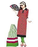 Drapes Multicolor Color Cotton printed Dress Material
