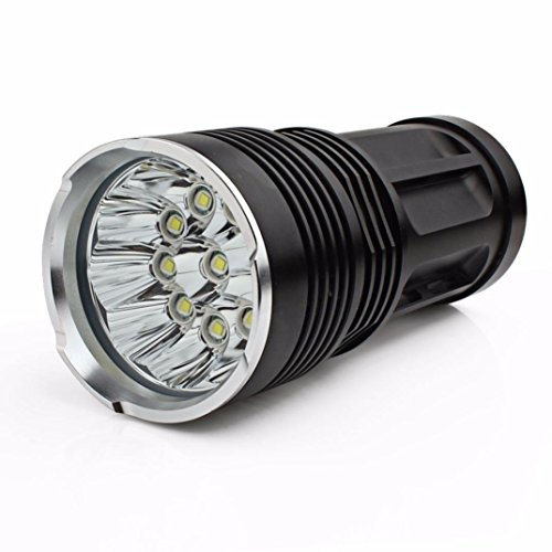 LED Taschenlampen SuMaYi 25000LM SKYRAY 10x CREE XM-L T6 LED Taschenlampe 4 x 18650 Jagd Lampe (300lm Led Cree Taschenlampe)