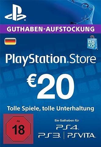 PlayStation Store Guthaben-Aufstockung | 20 EUR | PS4, PS3, PS Vita PSN Download Code - deutsches