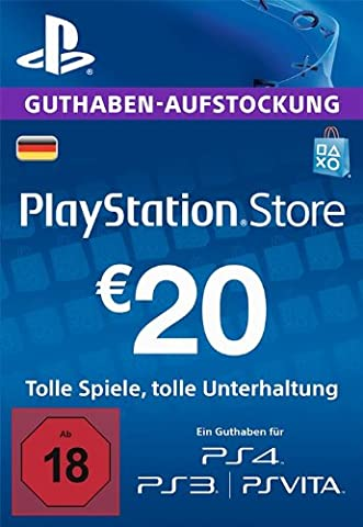 PlayStation Store Guthaben-Aufstockung 20 EUR [PS4, PS3, PS Vita PSN