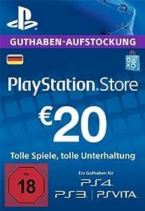 PlayStation Store Guthaben-Aufstockung | 20 EUR | PS4, PS3, PS Vita PSN Download Code - deutsches Konto