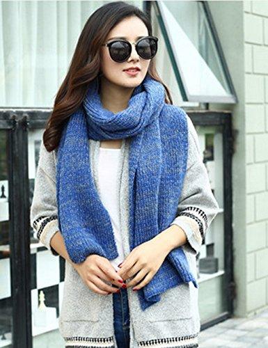 Écharpe d'hiver Femme à tricoter Couple Estudiant Couleur Mixer Bib Allongé épaississement Étudiant Châle ( couleur : 1# ) 7#