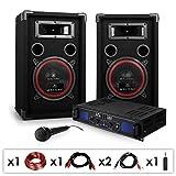 DJ PA-Set DJ-14 1600W Musik-Karaoke-Anlage PA-Verstärker SPL-500 mit 2x 200