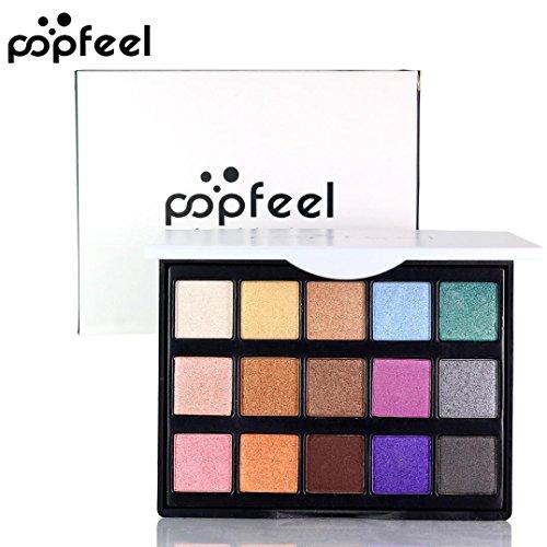 Fards à paupières,Cosmétique Matte fard à paupières crème maquillage palette miroiter ensemble 15 couleurs ombre à paupières par LHWY (B)