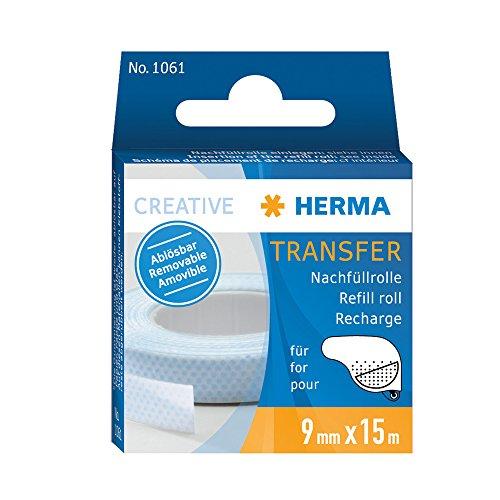 Preisvergleich Produktbild Herma 1061 Nachfüllkassette für Transfer Klebespender Kleberoller (Klebespur wieder ablösbar, 15m x 9mm) 1 Stück