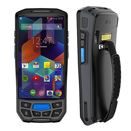 Price comparison product image 3G 4G Rugged Handheld Android 7.0 POS Terminal MUNBYN with Touch Screen Bluetooth GPS and 2D Honeywell Barcode Scanner for 1D QR PDF417